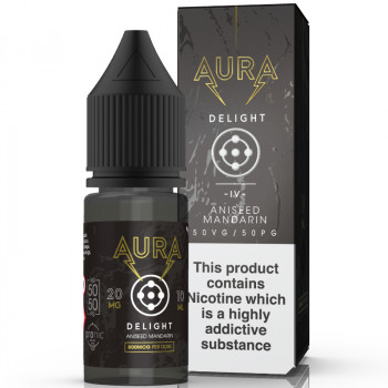 Delight - Dark Mandarin 20mg 10ml NicSalt Liquid by Aura