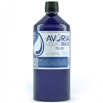 Avoria Liquid Base 1000ml 75/25 VG/PG Basisliquid