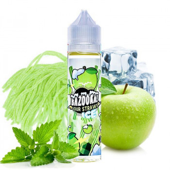 Green Apple ICE Sour Straws (50ml) Plus e Liquid by Bazooka Sour Straws