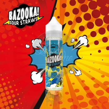 Blue Raspberry Sour Straws (50ml) Plus e Liquid by Bazooka Sour Straws