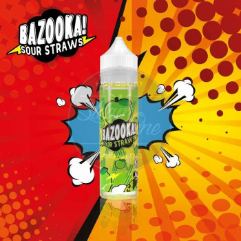 Green Apple Sour Straws (50ml) Plus e Liquid by Bazooka Sour Straws