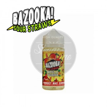 Mango Tango (100ml) Plus e Liquid by Bazooka Sour Straws Tropical Thunder