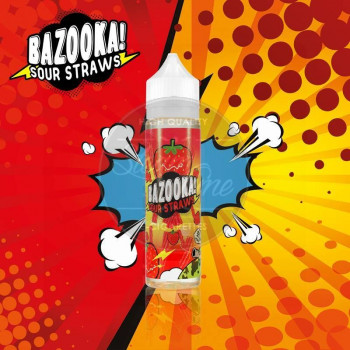 Strawberry Sour Straws (50ml) Plus e Liquid by Bazooka Sour Straws