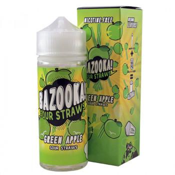 Green Apple 100ml Shortfill Liquid by Bazooka Sour Straws