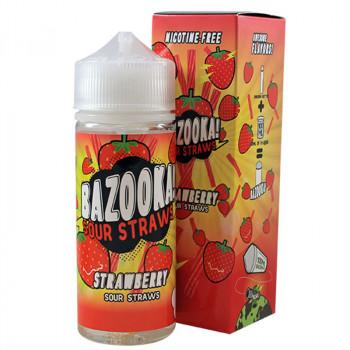 Strawberry 100ml Shortfill Liquid by Bazooka Sour Straws