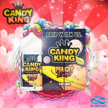 Peachy Rings (100ml) Plus e Liquid by Candy King