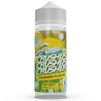 Strawberry Kiwi ICE (100ml) Shortfill Liquid by Crusher