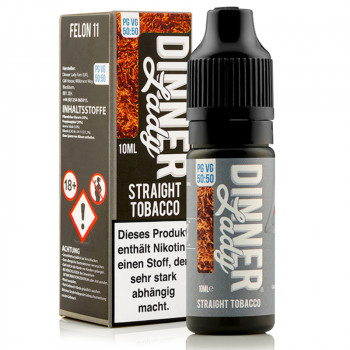 Straight Tobacco (Felon 11) Tobacco Serie 50/50 10ml Liquids by Dinner Lady