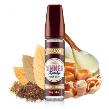 Caramel Tobacco 50ml Shortfill Liquid by Dinner Lady Tobacco