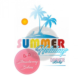 Strawberry Bikini by Dinner Lady Summer Holidays e Liquid 3x10ml
