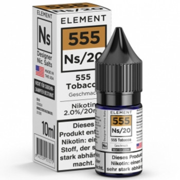 555 Tabak Ns20 10ml 20mg by Element e-Liquid