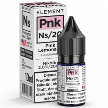Pnk Pink Lemonade Ns20 10ml 20mg by Element e-Liquid