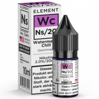 Wc Watermelon Chill Ns20 10ml 20mg by Element e-Liquid