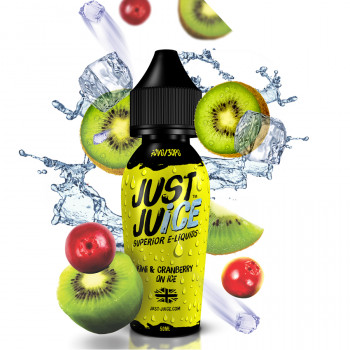 Kiwi Cranberry On Ice (50ml) Plus e Liquid by Just Juice