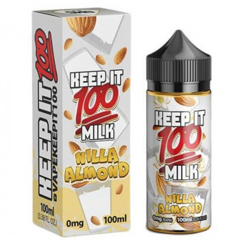 Nilla Almond (100ml) Plus e Liquid by Keep it