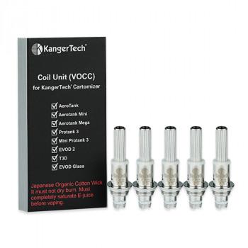 Kangertech VOCC Verdampferköpfe 5er Pack Coil Unit Köpfe V3 Coils [[Widerstand]]