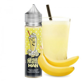 Milkshake Man Banana Plus 50ml e Liquid by Marina Vapes