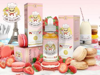 Strawberry Cream (50ml) Plus e Liquid by Mr. Macaron