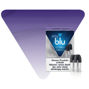 Blueberry 18mg NicSalt INTENSE TOUCH Serie MYBLU (2er Pack) Liquidpods
