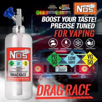 NOS Drag Race 50ml e Liquid by Naked Nation