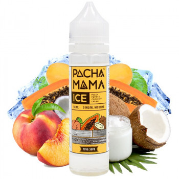 Peach Papaya Coconut ICE (50ml) Plus e Liquid by Pacha Mama