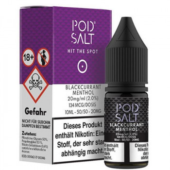 Blackcurrant Menthol 20mg 10ml Liquid by Pod Salt