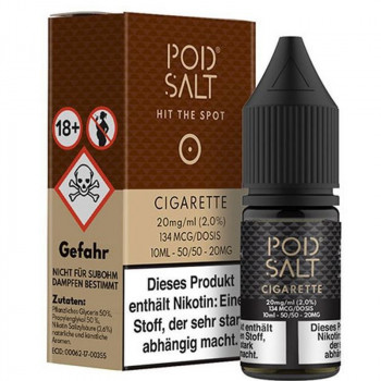 Cigarette 20mg 10ml Liquid by Pod Salt