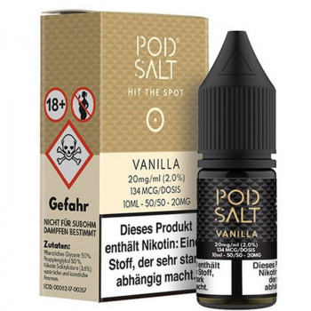 Vanilla 20mg 10ml Liquid by Pod Salt