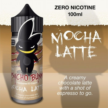 Mocha Latte (100ml) Plus e Liquid by Psycho Bunny