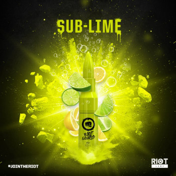 Sub Lime (50ml) Plus e Liquid by Riot Squad
