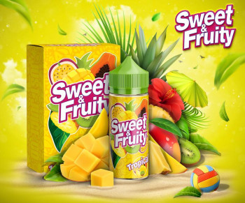Sweet & Fruity Tropical (80ml) Plus e Liquid by Humble Juice