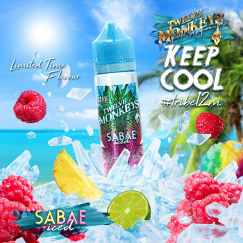Sabae Iced (50ml) Plus e Liquid by Twelve Monkeys Keep Cool