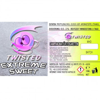 Extreme Sweet 10ml Aroma by Twisted Vaping