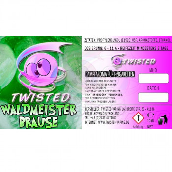 Waldmeisterbrause 10ml Aroma by Twisted Vaping