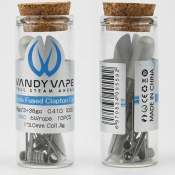 VandyVape Triple Fused Clapton 0,41 Ohm Coil (10pcs) Flasche