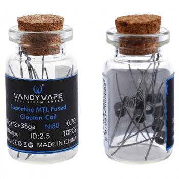 VandyVape Superfine MTL Clapton Wire (10pcs) Flasche