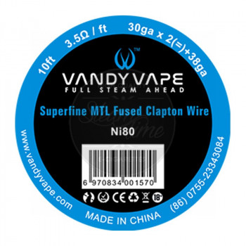 VandyVape Superfine MTL Ni80 Fused Clapton Wire (2,63€/1m)