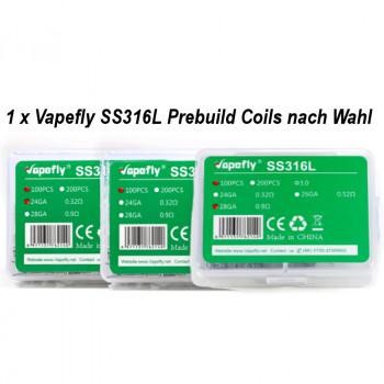 Prebuilt Coil SS316L 100 Stück by Vapefly