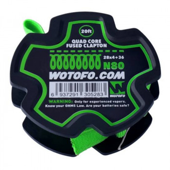 Wotofo Quad Core Fused Clapton Wire 20 feet/spool Wickeldraht