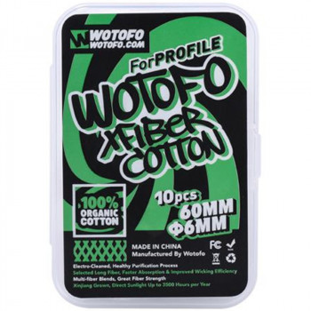 Wotofo Xfiber Cotton für Profile X10 (6mm) Wickelwatte