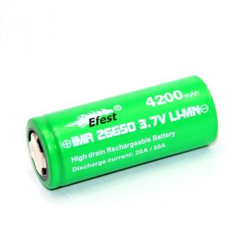 Efest IMR 26650 4200mAh/3,7V/50A/Flat Top/Ungeschützt/ Li-Ionen Akku