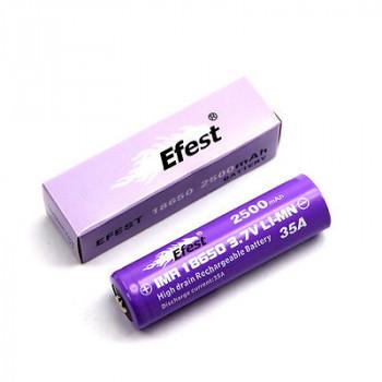 Efest Purple IMR18500 - 1000mAh 15A (Pluspol flach) ungeschützt