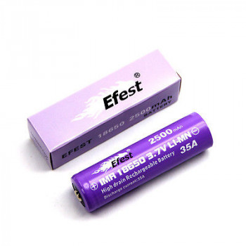 Efest Purple IMR18500 - 1000mAh15A (Button Top) ungeschützt