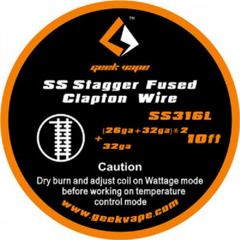 GeekVape Staggered Fused Clapton SS316L Wickeldraht (3,30€/1m)