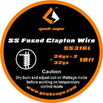 GeekVape Fused Clapton SS316L 24*2 + 32GA (3,30€/1m)