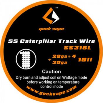 GeekVape Caterpillar Track SS316L 3m (3,30€/1m)