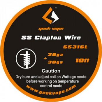 Geekvape Wickeldraht Clapton SS316L 26GA/30GA 3m (3,30€/1m)