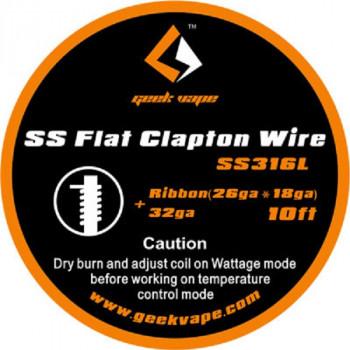 GeekVape Flat Clapton SS316L 26GA*18GA + 32GA 3m (3,30€/1m)