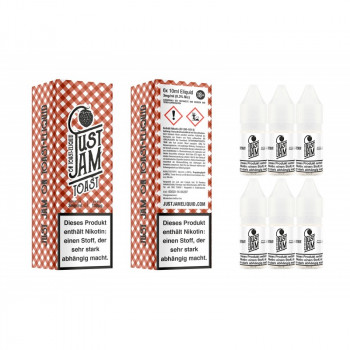 Just Jam On Toast 6er Pack 10ml e Liquid
