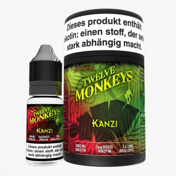 Twelve Monkeys Kanzi 3x10ml Multipack e Liquid